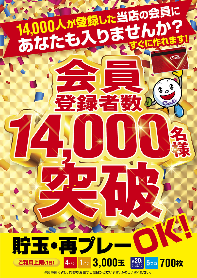 Thank you 12,000名様
