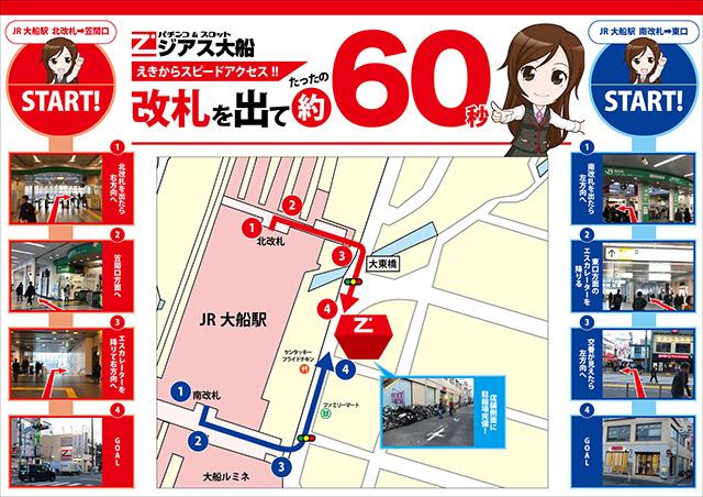 大船駅からのアクセス方法