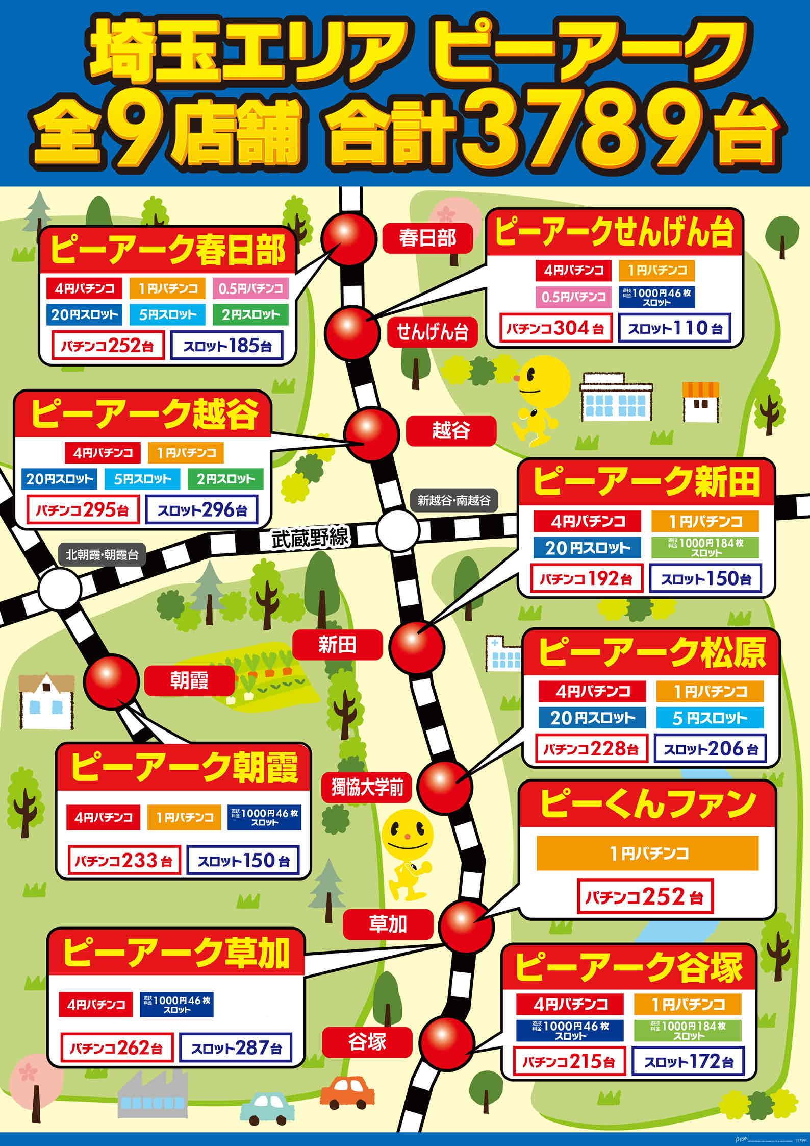 埼玉エリア全9店舗