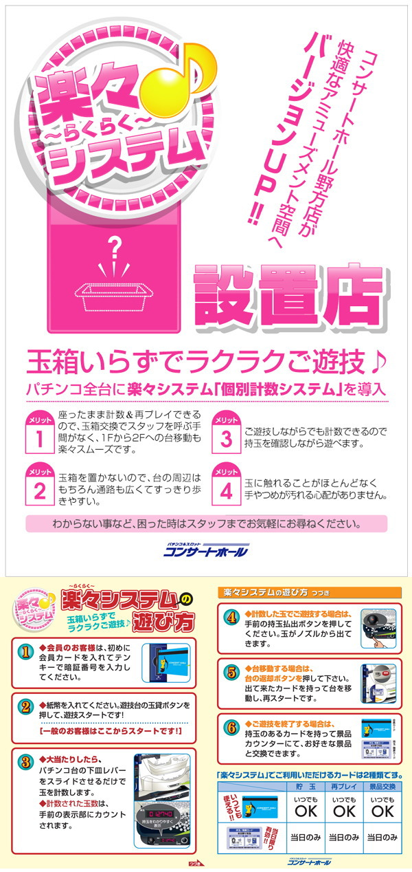 ぱちんこ全台個別計数システム導入店舗♪