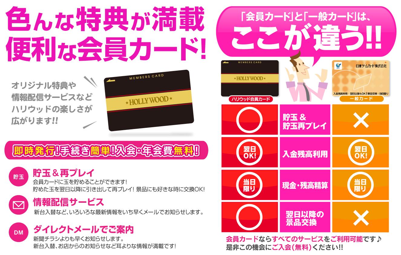 会員カード説明