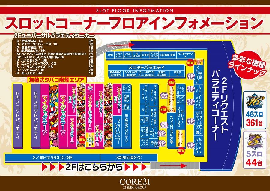 コア21戸島店 サラ番 9台設置中