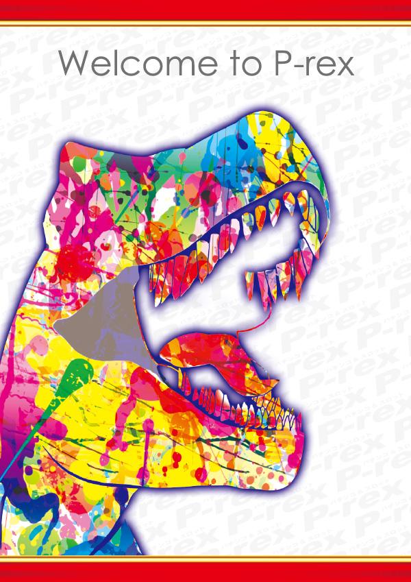 レインボー恐竜